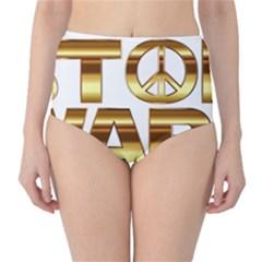 Stop Wars High Waist Bikini Bottoms
