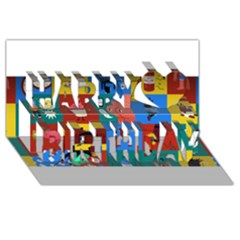 The Oxford Dictionary Illustrated Happy Birthday 3D Greeting Card (8x4)