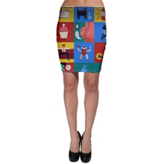 The Oxford Dictionary Illustrated Bodycon Skirt