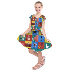 The Oxford Dictionary Illustrated Kids  Short Sleeve Dress