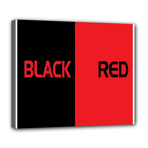 Black Red Splitting Typography Deluxe Canvas 24  X 20