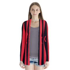 Black Red Splitting Typography Cardigans