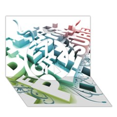 Design For Plesure Peace Sign 3D Greeting Card (7x5)