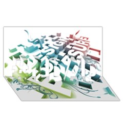 Design For Plesure #1 DAD 3D Greeting Card (8x4)