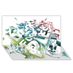 Design For Plesure Best Wish 3d Greeting Card (8x4)