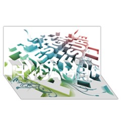 Design For Plesure Engaged 3d Greeting Card (8x4)