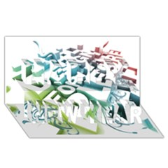Design For Plesure Happy New Year 3D Greeting Card (8x4)