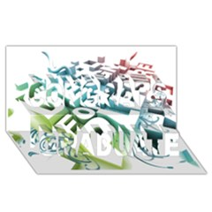 Design For Plesure Congrats Graduate 3d Greeting Card (8x4)