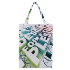 Design For Plesure Classic Tote Bag