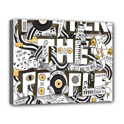 Foster The People Creative Typography Canvas 14  X 11