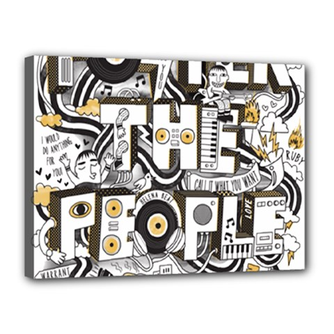 Foster The People Creative Typography Canvas 16  X 12