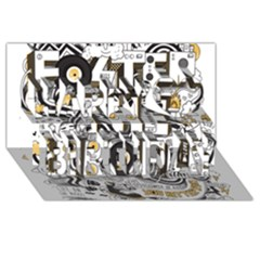 Foster The People Creative Typography Happy Birthday 3d Greeting Card (8x4)