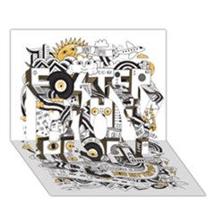 Foster The People Creative Typography Boy 3d Greeting Card (7x5)
