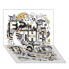 Foster The People Creative Typography Heart 3d Greeting Card (7x5)