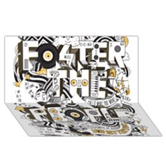 Foster The People Creative Typography Twin Hearts 3d Greeting Card (8x4)