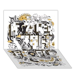Foster The People Creative Typography Love 3d Greeting Card (7x5)