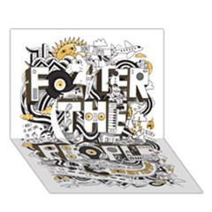 Foster The People Creative Typography Apple 3d Greeting Card (7x5)