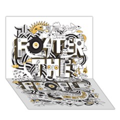 Foster The People Creative Typography Clover 3d Greeting Card (7x5)