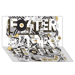 Foster The People Creative Typography PARTY 3D Greeting Card (8x4)