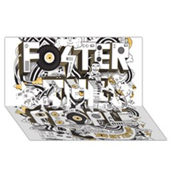 Foster The People Creative Typography Sorry 3d Greeting Card (8x4)