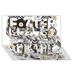 Foster The People Creative Typography Best Wish 3d Greeting Card (8x4)
