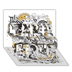 Foster The People Creative Typography Take Care 3d Greeting Card (7x5)