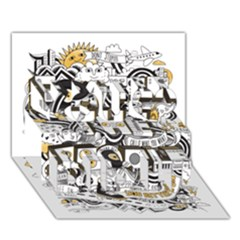 Foster The People Creative Typography You Did It 3D Greeting Card (7x5)