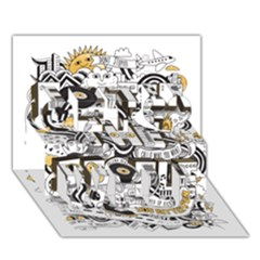 Foster The People Creative Typography Get Well 3d Greeting Card (7x5)