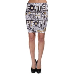 Foster The People Creative Typography Bodycon Skirt