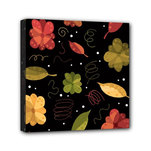Autumn Flowers  Mini Canvas 6  X 6