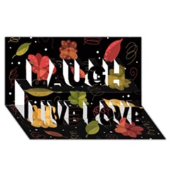 Autumn Flowers  Laugh Live Love 3d Greeting Card (8x4)