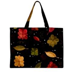 Autumn flowers  Medium Tote Bag