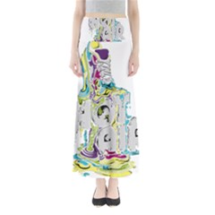 Hot Air Typography Maxi Skirts