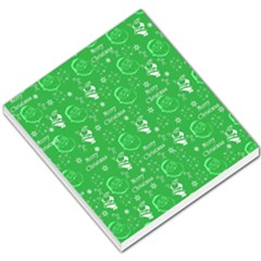 Santa Christmas Collage Green Background Small Memo Pads