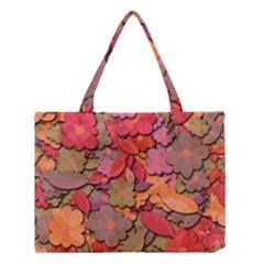 Beautiful Floral Design Medium Tote Bag