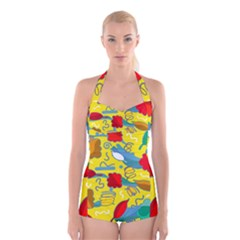 Weather Boyleg Halter Swimsuit