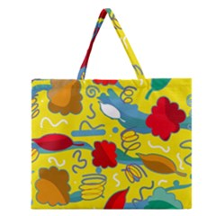 Weather Zipper Large Tote Bag
