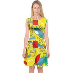 Weather Capsleeve Midi Dress