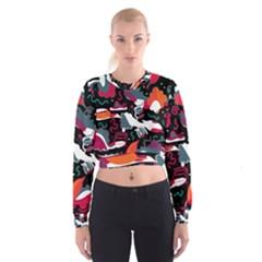 Fly away  Women s Cropped Sweatshirt