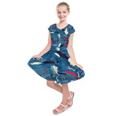 Ocean Kids  Short Sleeve Dress