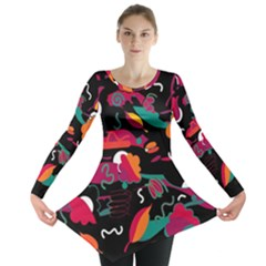 Colorful abstract art  Long Sleeve Tunic