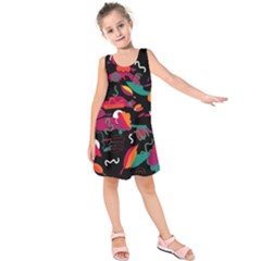 Colorful abstract art  Kids  Sleeveless Dress
