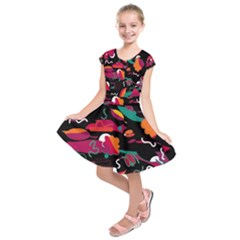 Colorful abstract art  Kids  Short Sleeve Dress