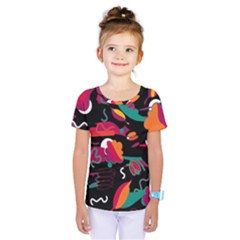 Colorful Abstract Art  Kids  One Piece Tee