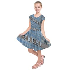 Donald Trump Trump Tower Donald Kids  Short Sleeve Dress
