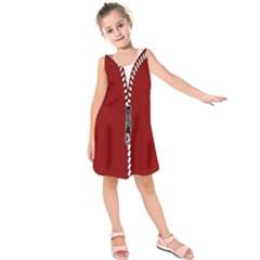 Zip Zipper Closure Close Zipp Kids  Sleeveless Dress