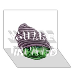 Evil Golbin You Are Invited 3d Greeting Card (7x5)