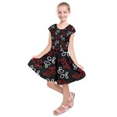 Elegance   Red  Kids  Short Sleeve Dress