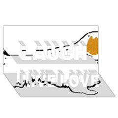 Clumber Spaniel Silo Color Laugh Live Love 3D Greeting Card (8x4)