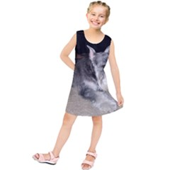Mini Schnauzer Laying Kids  Tunic Dress